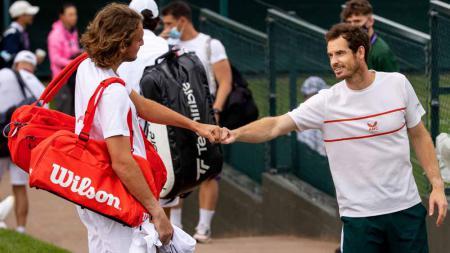 Hampir ada drama di turnamen tenis US Open 2021, saat petenis Andy Murray nyaris menang saat berhadapan dengan peringkat tiga dunia asal Yunani. - INDOSPORT