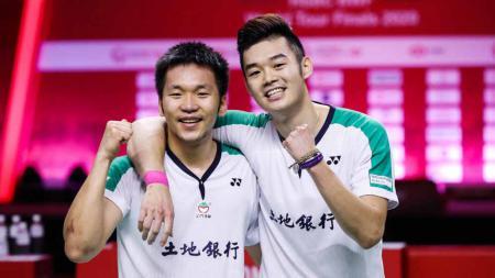 Lee Yang dan Wang Chi-Lin asal Chinese Taipei di Olimpiade Tokyo. - INDOSPORT