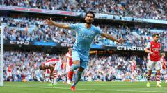 Indosport - Manchester City berhasil meraih kemenangan 5-0 atas Arsenal di pekan ke-3 Liga Inggris, Sabtu (28/08/21).