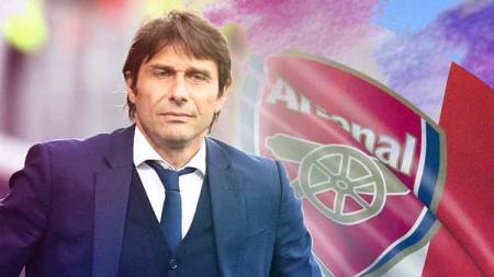 Antonio Conte santer disebut bakal menggantikan Mikel Arteta di Arsenal. Seperti apa formasi The Gunners jika eks pelatih Inter Milan itu bergabung? - INDOSPORT