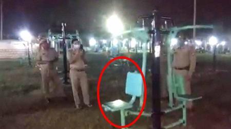Horor di salah satu tempat olahraga alat fitness bergerak sendiri di India. - INDOSPORT