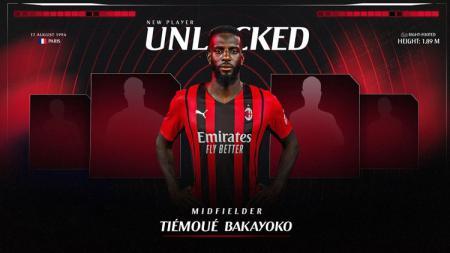 AC Milan resmi memboyong Tiemoue Bakayoko dari Chelsea dengan status pinjaman. - INDOSPORT