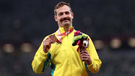 Evan O'Hanlon, sprinter Paralimpiade Tokyo asal Australia. - INDOSPORT