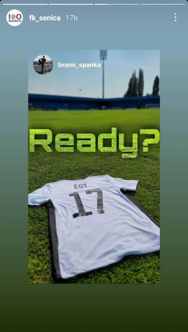 Nomor punggung yang akan dikenakan Egy Maulana Vikri di FK Senica. Copyright: fk_senica