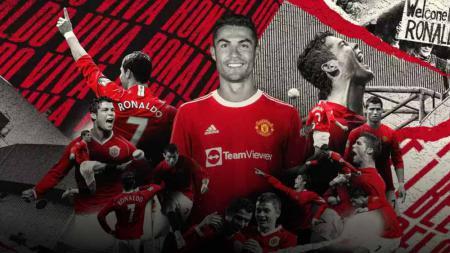 Cristiano Ronaldo resmi pulang ke Manchester United. - INDOSPORT