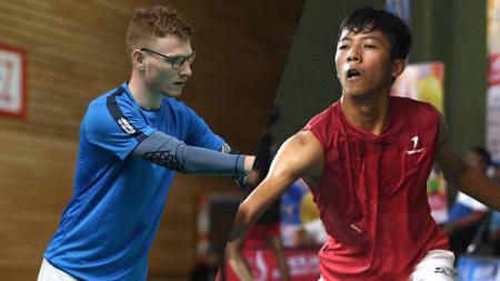 Meril Loquette (FRA) vs Dheva Anrimusthi (INA) adalah atlet parabadminton yang bertanding di penyisihan grup A Para Badminton Tokyo 2020. - INDOSPORT