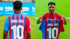 Indosport - Ansu Fati Warisi No 10 Lionel Messi