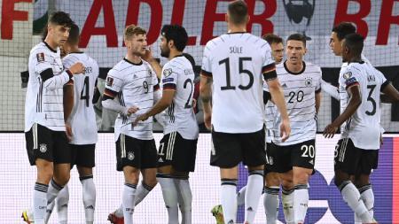 Selebrasi Pemain Jerman di laga kontra Liechtenstein - INDOSPORT