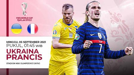 Berikut link live streaming pertandingan kualifikasi Piala Dunia 2022 yang mempertemukan Ukraina vs Prancis. - INDOSPORT