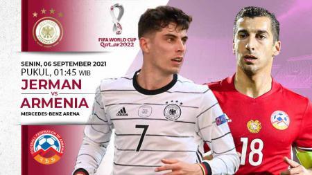 Berikut link live streaming pertandingan Kualifikasi Piala Dunia 2022 antara Jerman vs Armenia yang akan digelar hari ini, Senin (06/09/21) pukul 01.45 WIB. - INDOSPORT