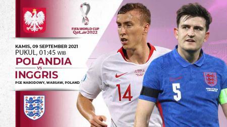 Berikut link live streaming pertandingan kualifikasi Piala Dunia 2022 yang mempertemukan Polandia vs Inggris. - INDOSPORT