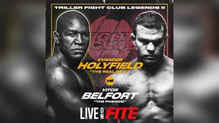 Evander Holyfield vs Vitor Belfort. - INDOSPORT