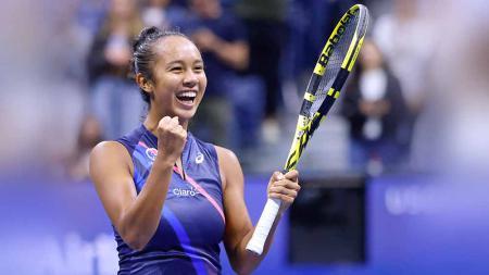 Leylah Fernandez gagal ke perempat final Indian Wells 2021 usai dikalahkan Shelby Rogers. - INDOSPORT