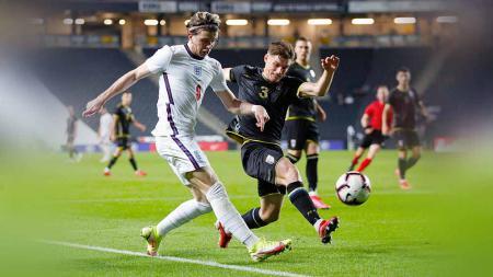 Suasana pertandingan Inggris U-21 vs Kosovo. - INDOSPORT
