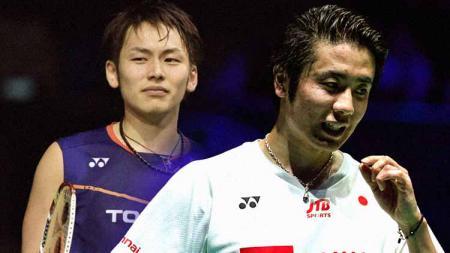 Takeshi Kamura (kiri) dan Hiroyuki Endo (kanan), keduanya memutuskan mundur dari tim nasional Jepang - INDOSPORT