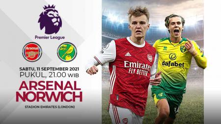 Berikut ini link live streaming pertandingan pekan keempat Liga Inggris 2021/2022 yang mempertemukan Arsenal dan Norwich City, Sabtu (11/09/21) pukul 21.00 WIB. - INDOSPORT
