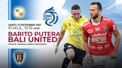Indosport - Pertandingan antara Barito Putera vs Bali United (Liga 1 BRI).
