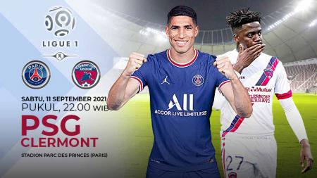 Raksasa Ligue 1 Prancis, Paris Saint-Germain (PSG), akan melanjutkan tren kemenangan beruntun di liga domestik saat menjamu Clermont pada Sabtu (10/09/21). - INDOSPORT