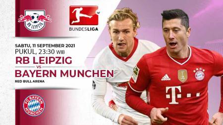 Link live streaming pertandingan Bundesliga Jerman yang menampilkan RB Leipzig vs Bayern Munchen pada Sabtu (11/09/2021) pukul 23.30 - INDOSPORT