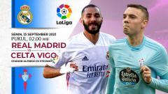 Indosport - Real Madrid akan menjamu Celta Vigo pada laga pekan keempat LaLiga Spanyol 2021-2022 di Stadion Santiago Bernabeu, Senin (13/09/21).
