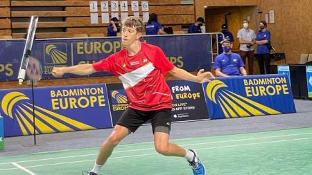 Pebulutangkis asal Denmark, William Bogerbjerg yang akan memperebutkan gelar juara di Final Kejuaraan Eropa U17 2021 melawan unggulan pertama Alex lanier dari Prancis. - INDOSPORT