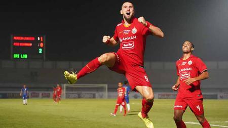 Bomber Persija Jakarta, Marko Simic sudah menorehkan 50 gol bersama Persija Jakarta. - INDOSPORT