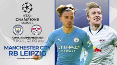 Indosport - Link Live Streaming Pertandingan Grup A Liga Champions Eropa antara Manchester City vs RB Leipzig.