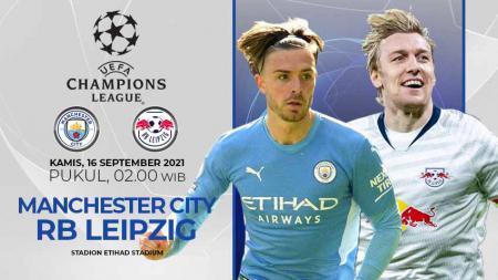 Link Live Streaming Pertandingan Grup A Liga Champions Eropa antara Manchester City vs RB Leipzig. - INDOSPORT