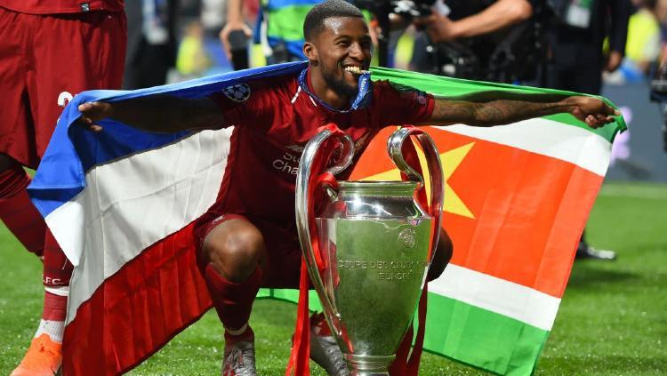 Pemain berdarah Suriname, Georginio Wijnaldum saat juara Liga Champions Copyright: rousingthekop.com/Harriet Lander/Copa/Getty Images