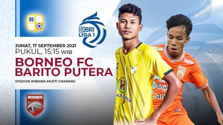 Pertandingan antara Borneo FC vs Barito Putera (Liga 1 BRI). - INDOSPORT