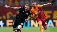 Indosport - Galatasaray vs Lazio di Liga europa.