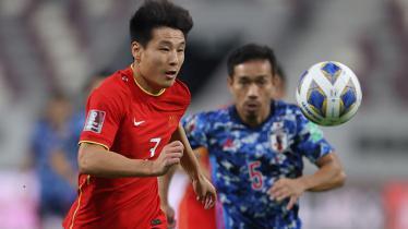 Striker Timnas China, Wu Lei, di Kualifikasi Piala Dunia 2022.