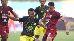 Indosport - Pertandingan antara Borneo FC vs Barito Putera di BRI Liga 1.