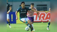 Indosport - Pertandingan antara Tira-Persikabo vs Persik Kediri di BRI Liga 1.