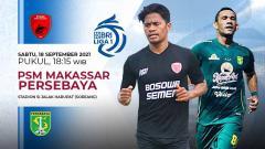 Indosport - Pertandingan antara PSM Makassar vs Persebaya (Liga 1 BRI).