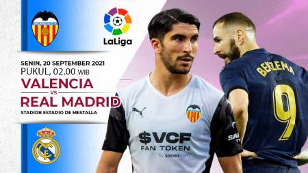 Berikut link live streaming pertandingan pekan ke-5 Liga Spanyol 2021/22 antara Valencia vs Real Madrid. - INDOSPORT