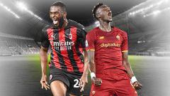 Indosport - Terbuang dari Chelsea, Fikayo Tomori dan Tammy Abraham kini bersinar cerah bersama dua klub papan atas Liga Italia yakni AC Milan dan AS Roma.