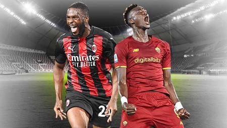 Terbuang dari Chelsea, Fikayo Tomori dan Tammy Abraham kini bersinar cerah bersama dua klub papan atas Liga Italia yakni AC Milan dan AS Roma. - INDOSPORT