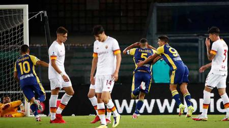 Situasi laga Liga Italia antara Hellas Verona vs AS Roma. - INDOSPORT