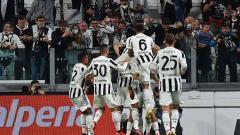 Indosport - Perayaan gol Juventus ke gawang AC Milan yang dicetak oleh Alvaro Morata..