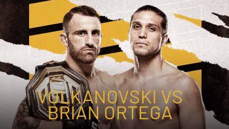 Alexander Volkanovski vs Brian Ortega di UFC 266 - INDOSPORT