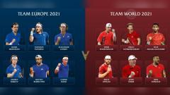 Indosport - Team Europe dan Team World di Laver Cup 2021.