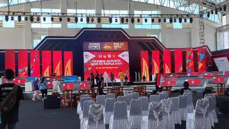Tonggak sejarah baru ditorehkan eSports nasional melalui penyelenggaraan Eksibisi Esports PON XX Papua 2021 yang resmi dibuka hari ini, Selasa (21/9/21). - INDOSPORT