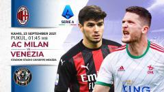 Indosport - Berikut prediksi pertandingan pekan kelima Liga Italia 2021/2022 antara AC Milan vs Venezia. Laga ini akan dimainkan di Stadion San Siro, Kamis (23/09/21).