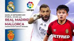 Indosport - Berikut prediksi pertandingan pekan keenam Liga Spanyol 2021/2022 antara pimpinan klasemen Real Madrid vs Real Mallorca.