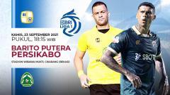 Indosport - Pertandingan antara Barito Putera vs Persikabo (Liga 1 BRI).