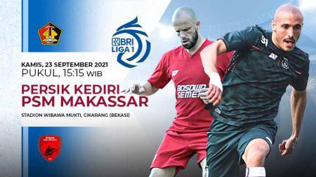 Berikut link live streaming pertandingan BRI Liga 1 2021-2022 pekan ke-4 antara Persik Kediri vs PSM Makassar. - INDOSPORT