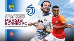 Indosport - Pertandingan antara Persib Bandung vs Borneo FC (Liga 1 BRI).