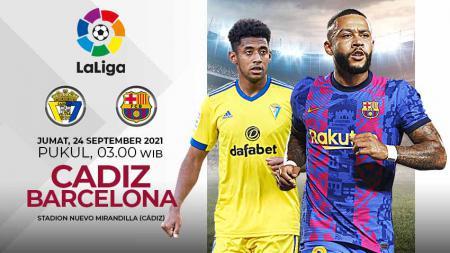 Berikut ini link live streaming pertandingan LaLiga Spanyol antara Cadiz vs Barcelona, yang bakal digelar pada Jumat (24/09/21) pukul 03.00 WIB. - INDOSPORT