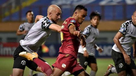 Laga pertandingan antara Barito Putera vs Persikabo di BRI Liga 1. - INDOSPORT